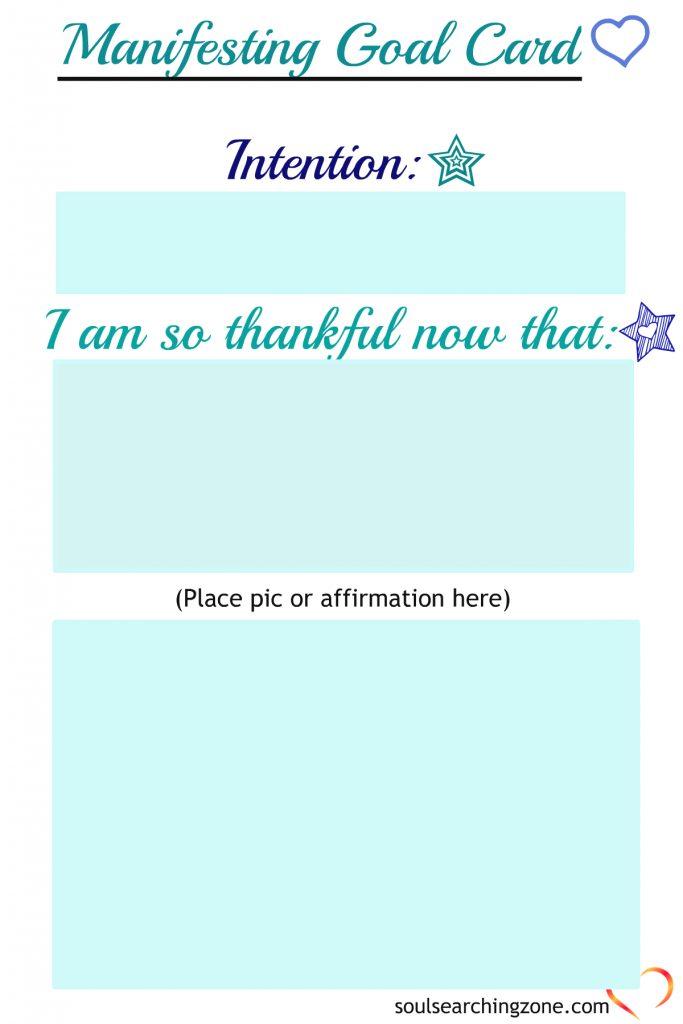 Newest Manifesting Goal Card