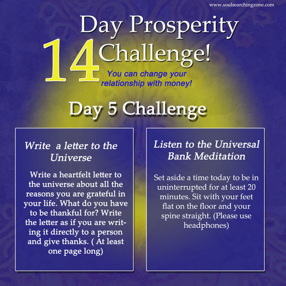 day 6 limited belief universal bank meditation