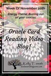 Weekly Oracle Card Reading- Week of November 20th